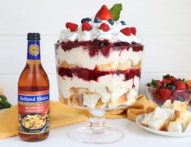 Easy Mixed-Berry Trifle With Angel Food Cake