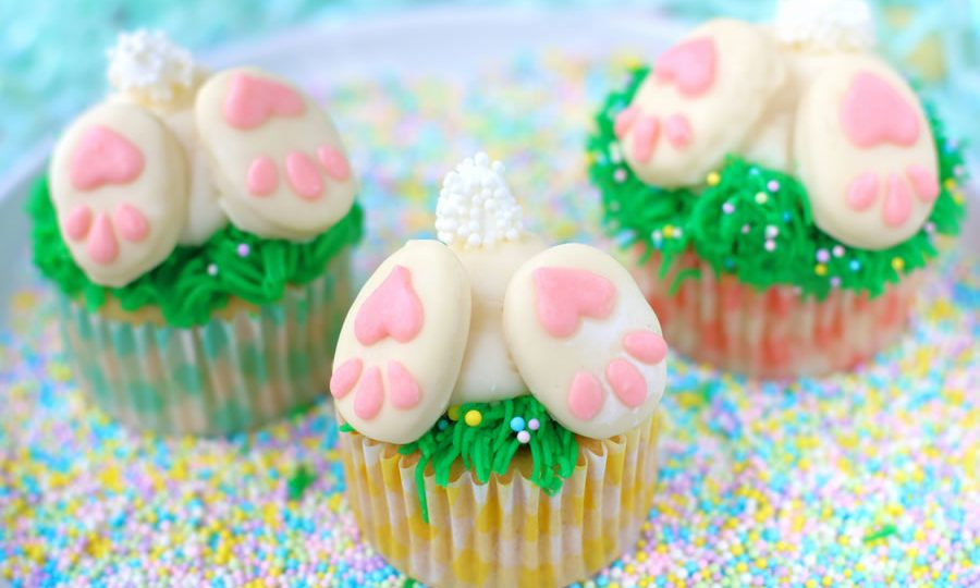 SPRING BAKING HOW-TO: LOW-SUGAR BUNNY BUTT CUPCAKES